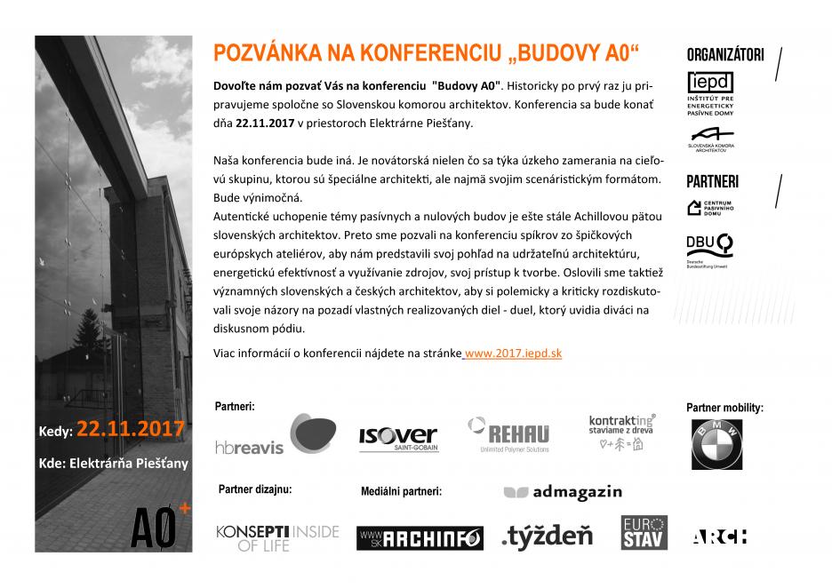 konferencia pozvánka