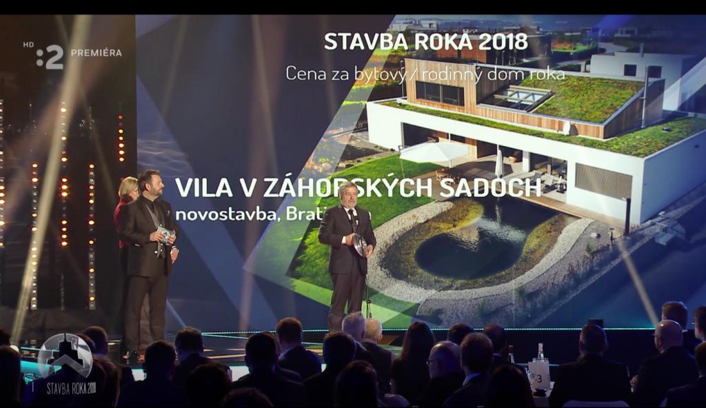 Vila v Záhorských Sadoch získala  ocenenie  STAVBA ROKA 2018