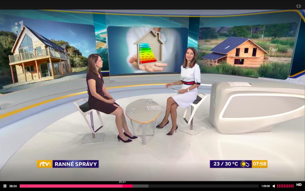 Podpora rodinných domov na Slovensku- diskusia v Ranných správach  STV1