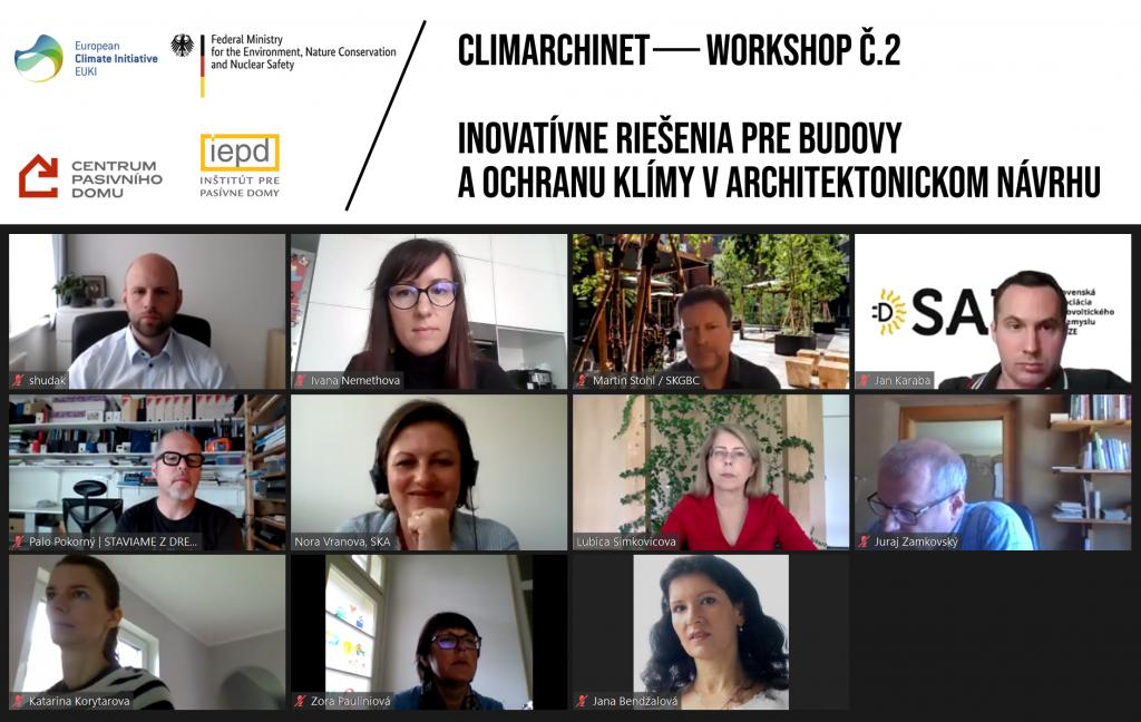 Workshop č.2 – Inovatívne riešenia pre budovy a ochranu klímy v architektonickom návrhu